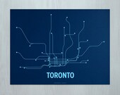 Toronto Screen Print - Navy/Light Blue