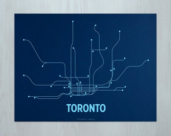 Toronto Screen Print - Navy/Light Blue