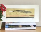 Original Etching Print LOVE LETTER Abstract Engraving Printmaking Fine Art Print Still Life Poetic Wall Decor Limited Edition 14x7