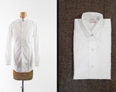 NOS Vintage Tab Collar Dress Shirt White Sanforized Arrow 60s Cot-N-Rite - Size 14 1/2