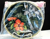 Hawaiian Islands Souvenir Tray & Coasters Hibiscus and Orchids Still Sealed