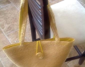 Vintage Handwoven Market Tote/beach Bag