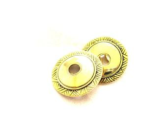 Statement Gold Circle Cutout Earrings