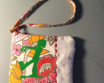 Green Zombie & Flowers Pouch