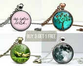 Photo Pendant Sale - Choice of 4 Mix & Match Picture Necklaces Buy 3 Get One Free Offer Bridesmaids Gifts