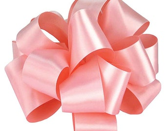 """CLEARANCE! Satin Ribbon 5/8"""" Double Face, Light Pink - 100 YARD ROLL - Offray Narrow Satin No. 3 Light Pink #117, Double Sided Satin Ribbon"""