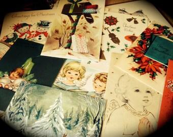 Vintage Christmas Card Collection - Vintage Holiday Paper Ephemera