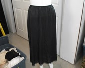 Long Black Half Slip by Sears - Size Medium - FREE SHIPPING