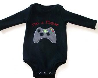 I'm A Player Embroidered Newborn Onesie Bodysuit