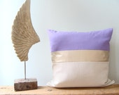 Color Block Pillow Cover/Holiday/Lavender/Champagne Gold/Cream/Modern/Minimalistic/Stylish Pillow/New Collection/Zigazag Studio Design