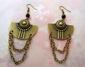 Art Deco Aztec Vintage Gothic Steampunk Mori Lolita Drop earrings