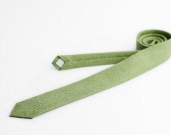 Green necktie, apple green tie