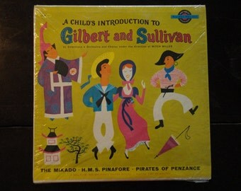 Children's Vinyl Record Album LP-A Child's Introduction to Gilbert and Sullivan-The Mikado-Songs