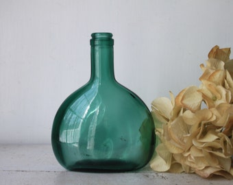 Vintage Green Glass Jar, Vase