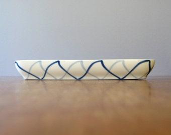 Mid Century Lyngby Denmark Harlequin / Harlekin Dish / Low Bowl