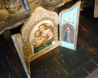 Vintage Florentine Triptych