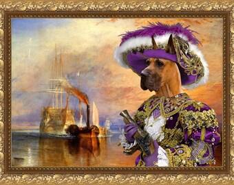 Great Dane Art CANVAS Print Fine Artwork of Nobility Dogs Dog Portrait Dog Painting Dog Art Dog Print