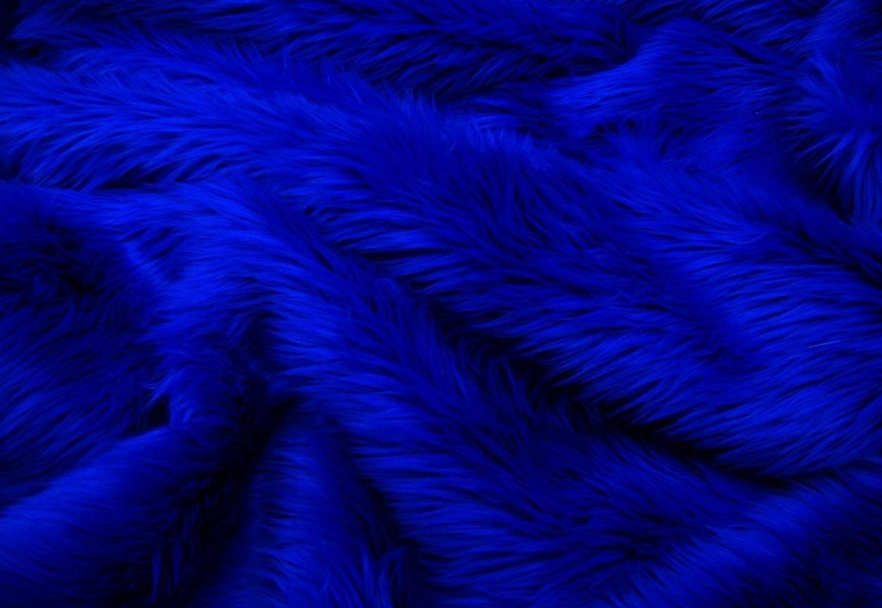 Navy blue faux fur 2