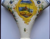 Vintage Hand Painted Flower Vase From Italy