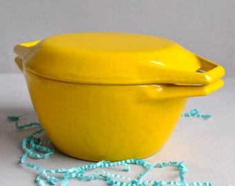 SALE! Bright Yellow Casserole - Micheal Lax - Copco Denmark D1