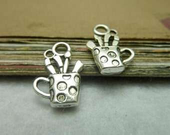 30 pcs 13x19mm The Cup Silver color  Pendant Charm For Jewelry Pendant C7729