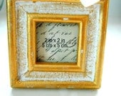 Gold Antiqued Frames -ribbon hanger - Size is 2x2 inches square - hanging loop - party favors, wedding favors