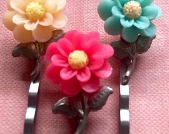 Accessories Flower Hair Bobby Pins Daisy Flower Cabochon Hair Pins
