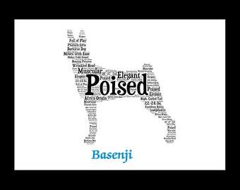 Basenji, Basenji art, Custom, Personalize, Pet Gift, Print, Dog Art, Pet Art, Pet Memorial