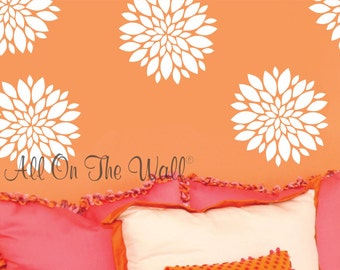 Peonies Wall Decal Flowers Girls Bedroom Decor Nursery Baby Teen Decals Poppies Wall Decals Flower Decals For Girls Home Decor