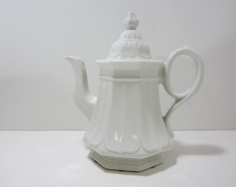 SALE Ironstone Coffee Pot or Teapot, Red Cliff Sydenham Coffee Pot