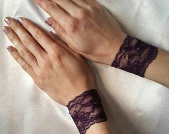 LACE CUFFS LACE Bracelets Lace Wristbands Lace Bracelet Bridal Lace Wristbands Fetish Bracelets Fetish Accessories Goth Bracelet Lace Goth