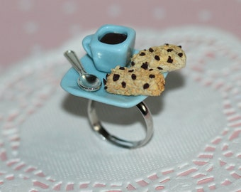 Breakfast Ring - Miniature Food Ring - Coffee Ring - Cereal Jewelry