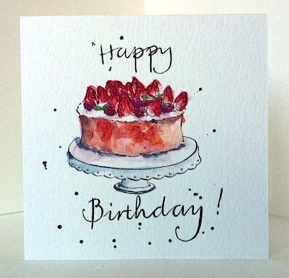 Birthday Card Birthday Cake Illustration Art