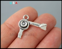 5 HAIRDRYER Charms - 19mm 3D Antiqued Silver Blow Dryer Hair Dresser Metal Charm Pendants - Instant Shipping - USA Discount Charm - 6244