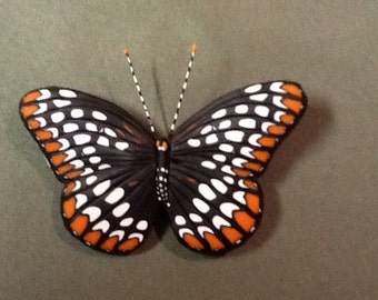 Baltimore Checkerspot Butterfly Pin