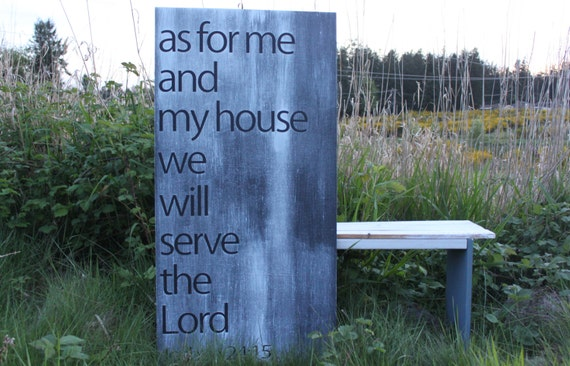 HUGE As for me and my house we will serve the Lord Subway Board Wall Art