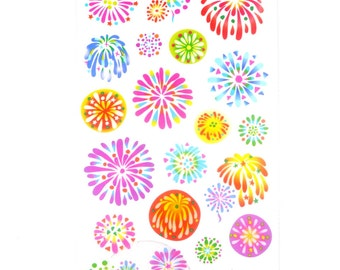 ON SALE Paper Die Cut Deco Sticker - Summer Selection - fireworks party - 1 Sheet