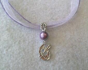 10 Art Palette Necklaces Party Favors