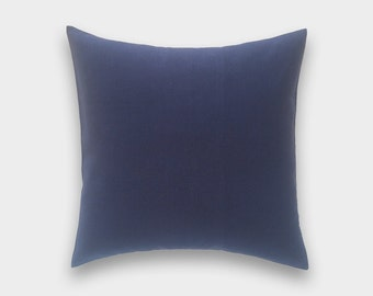 CLEARANCE 50% OFF Solid Deep Navy Blue Throw Pillow Cover. Pick a Size. Navy Decorative Pillow. Cushion Cover