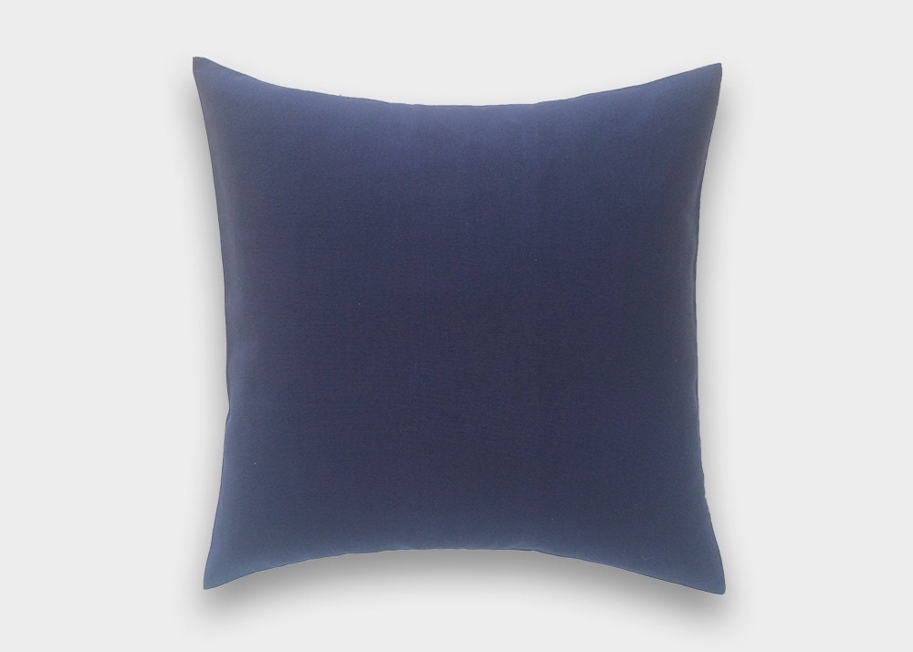 Solid Navy Blue Decorative Pillow : CLEARANCE 50% OFF Solid Deep Navy Blue Throw Pillow Cover.