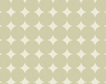 Gray and Cream Polka Dot Fabric - True Colors by Heather Bailey from Free Spirit - 1 Yard
