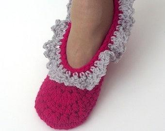 Crochet Slippers, Women Slippers, House Slippers, Ladies Slippers, Womens House Slippers, Size 9 / 10