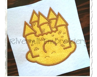 Sand Castle Applique Machine Embroidery Design - 4 Sizes