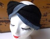 winter denim headband