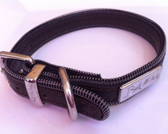 Bret Michaels Dog Collar - Designer Dog Collar - Leather Dog Collar