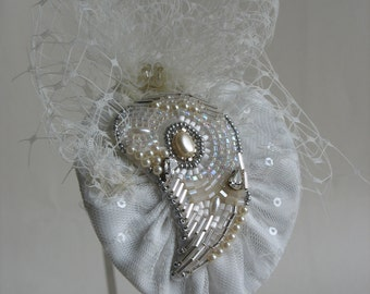 HALF PRICE Vintage inspired headpiece. Wedding fascinator