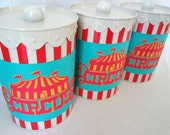 Circus Favor Boxes Carnival Favors Party Favors Stripe Circus Candy Boxes Nut Boxes Circus Birthday Party Popcorn Boxes Party Tin Circus Tin