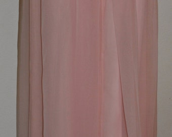 Vintage PINK CHIFFON SKIRT Sixties Nelly de Grab Couture Size Small Extra Small