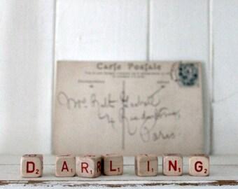 Vintage Letter Cubes DARLING