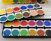 Paint palette 24 paints by EBERHARDFABER from Germany.  High quality opaque paints in beautiful colour shades.perfect for peg dolls